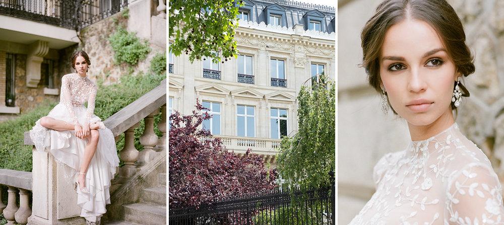 elegant fashion portrait wedding film photography paris france