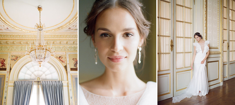 elegant, timeless portrait wedding film photography paris france