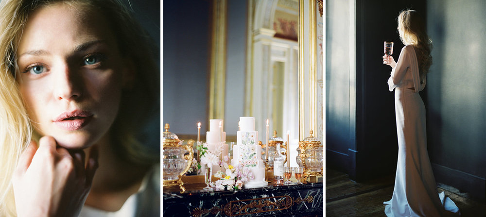 elegant, timeless portrait wedding film photography portugal