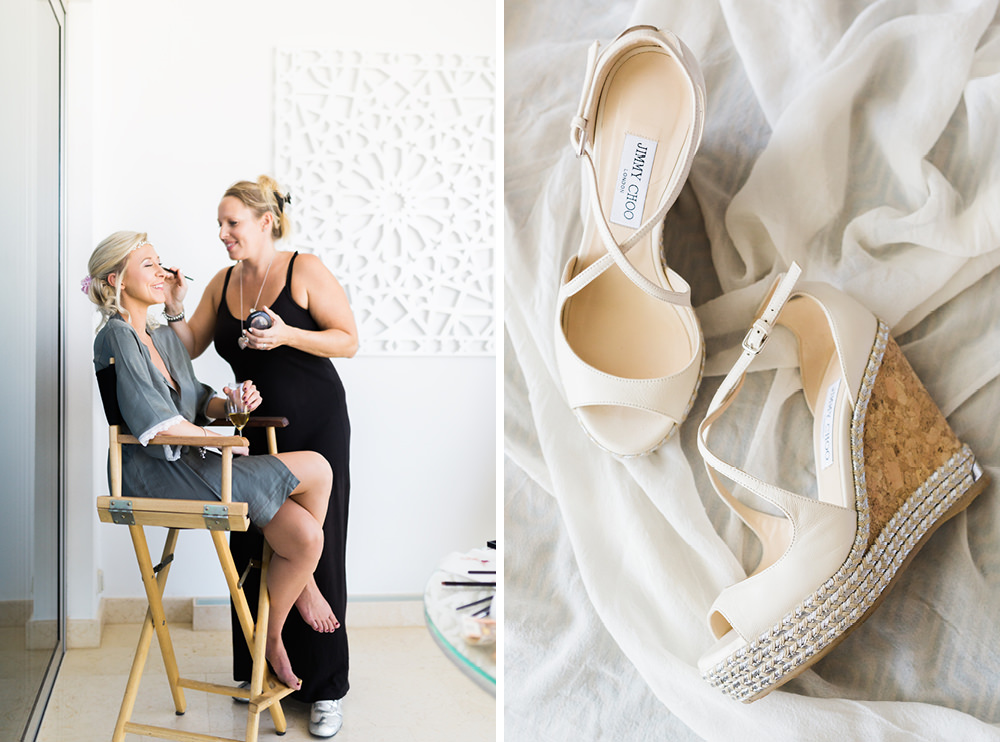 portugal fineart wedding photography bride makeup shoes