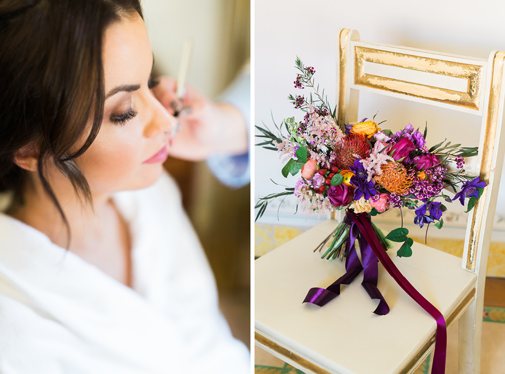 Bride, Bouquet - Elopement in Seteais Palace in Sintra