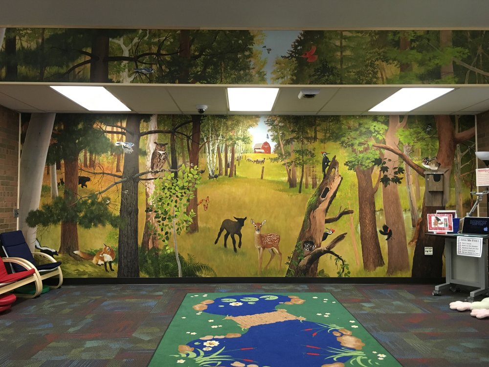 Nick's latest mural, installed at Hornung Elementary School in Brighton, MI.