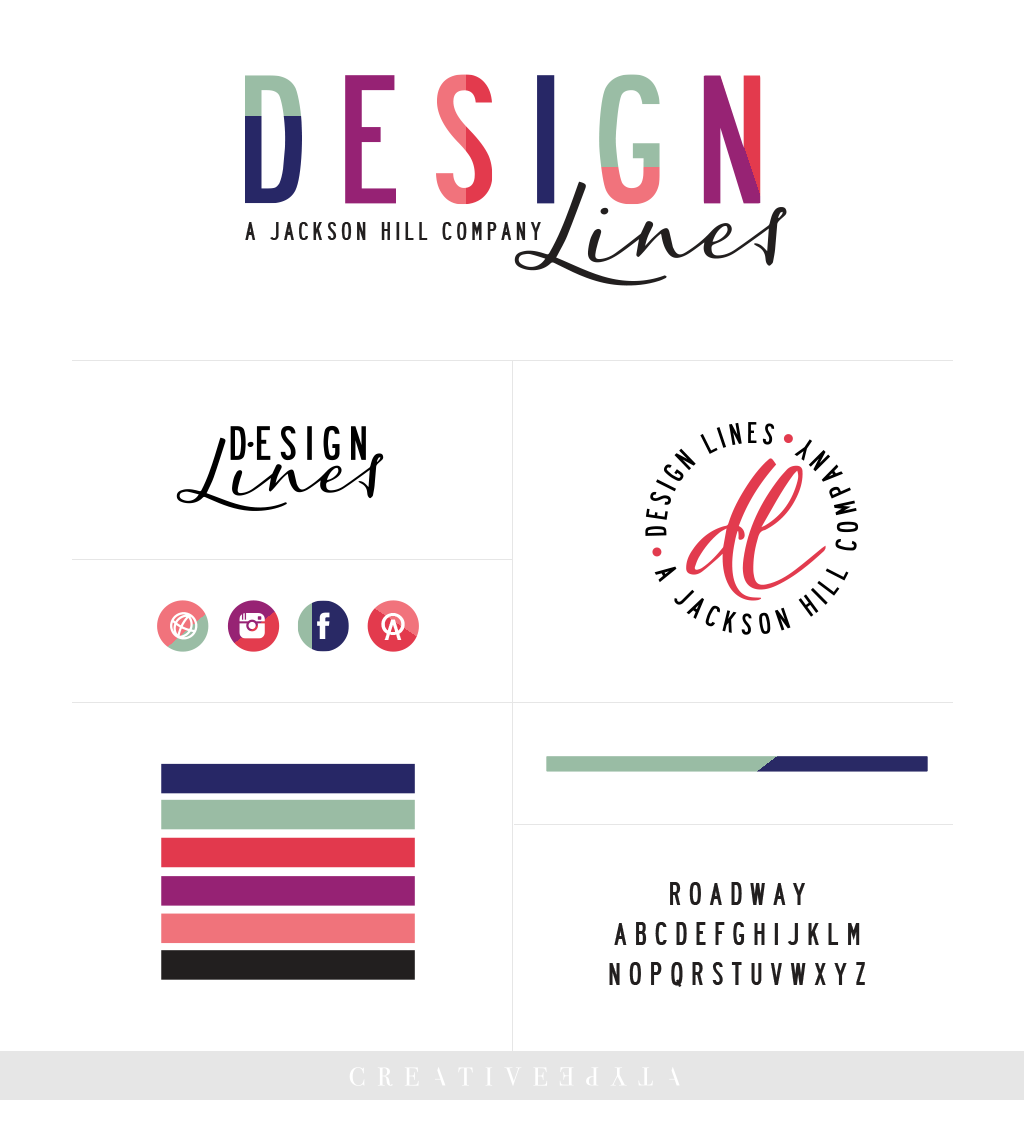 Design Lines Brand Board | Identity by Creative Type A