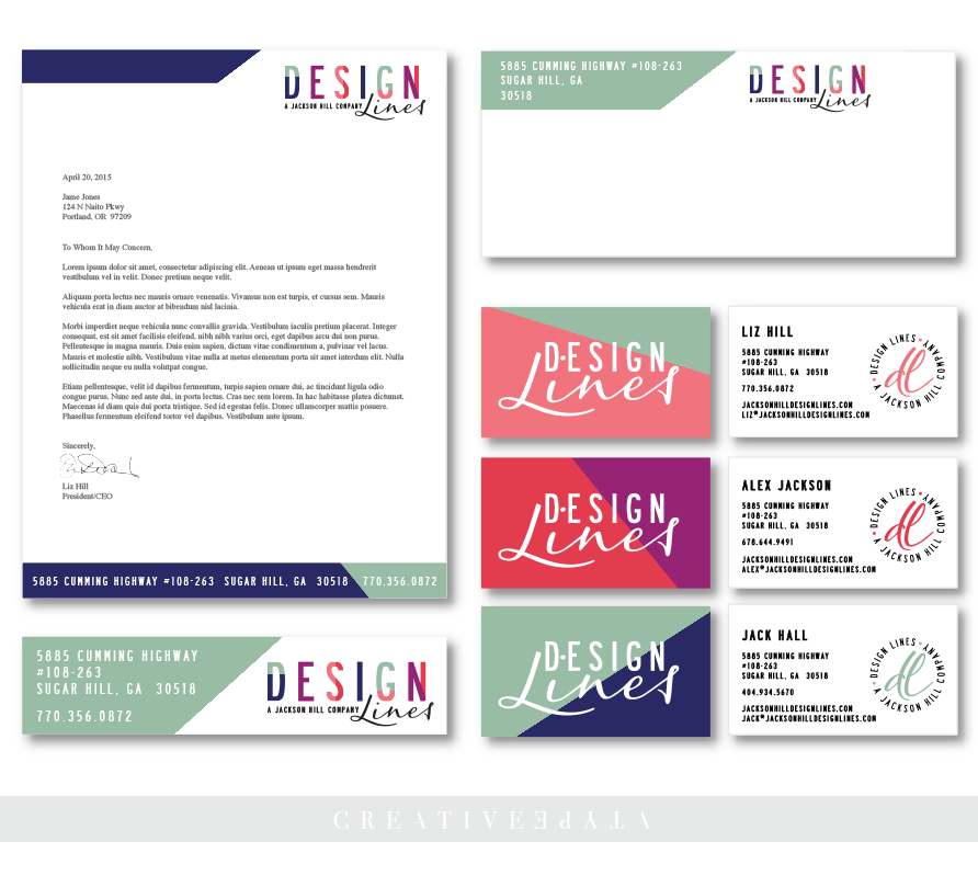 Design Lines Print Colleteral | Identity and Design by Creative Type A