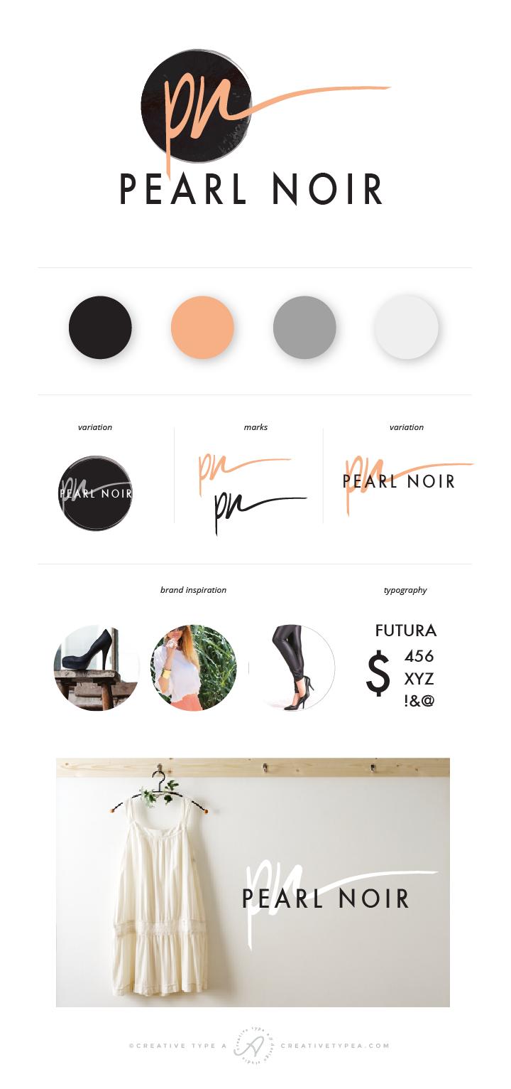 Pearl Noir Branding Board | by Creative Type A