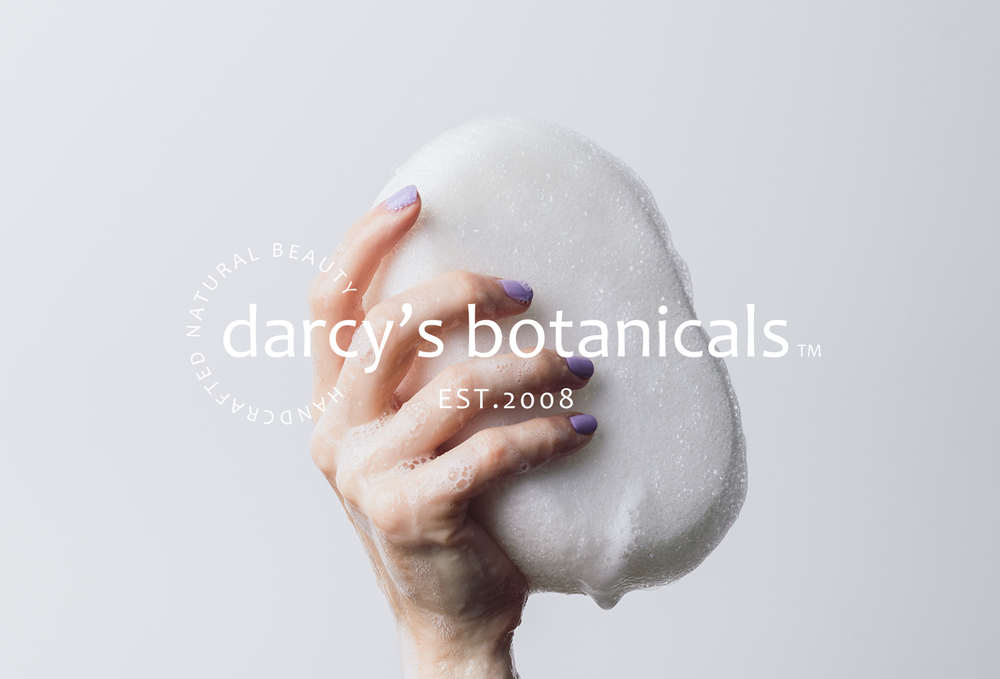 Darcy's Botanicals Re-Brand, Print & Package Design