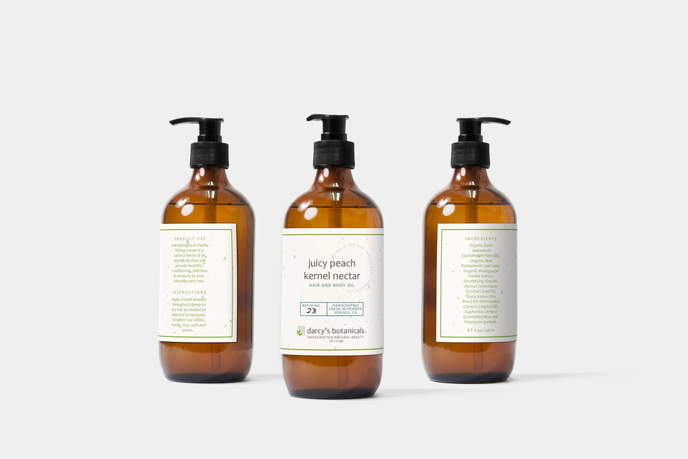 Darcy's Botanicals Product Labels