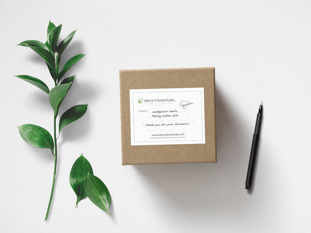 Darcy's Botanicals Packaging Sticker