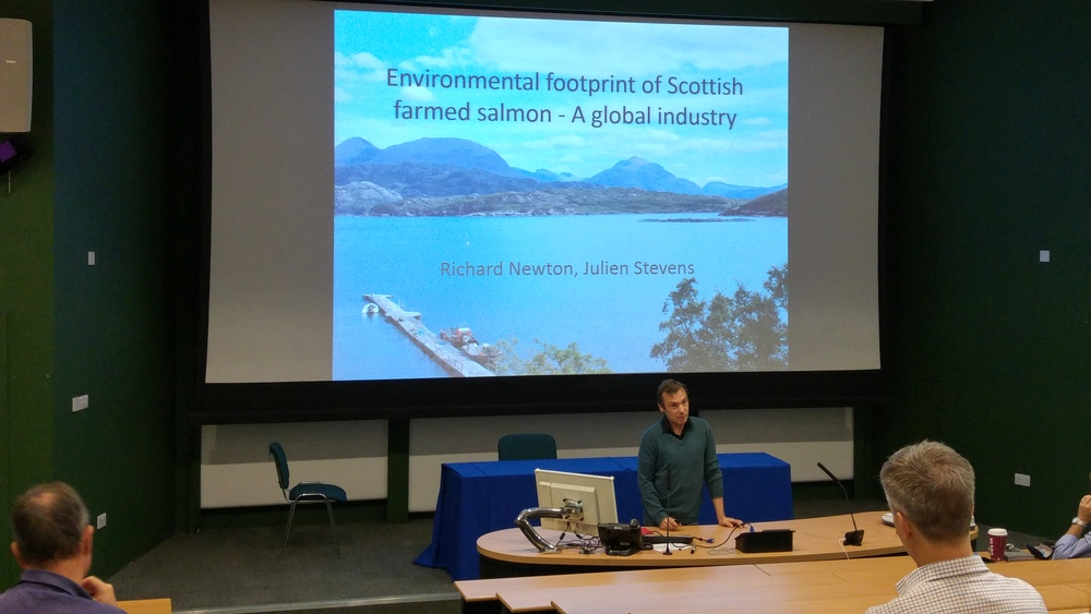Richard Newton presents at the Stirling Salmon Science Symposium