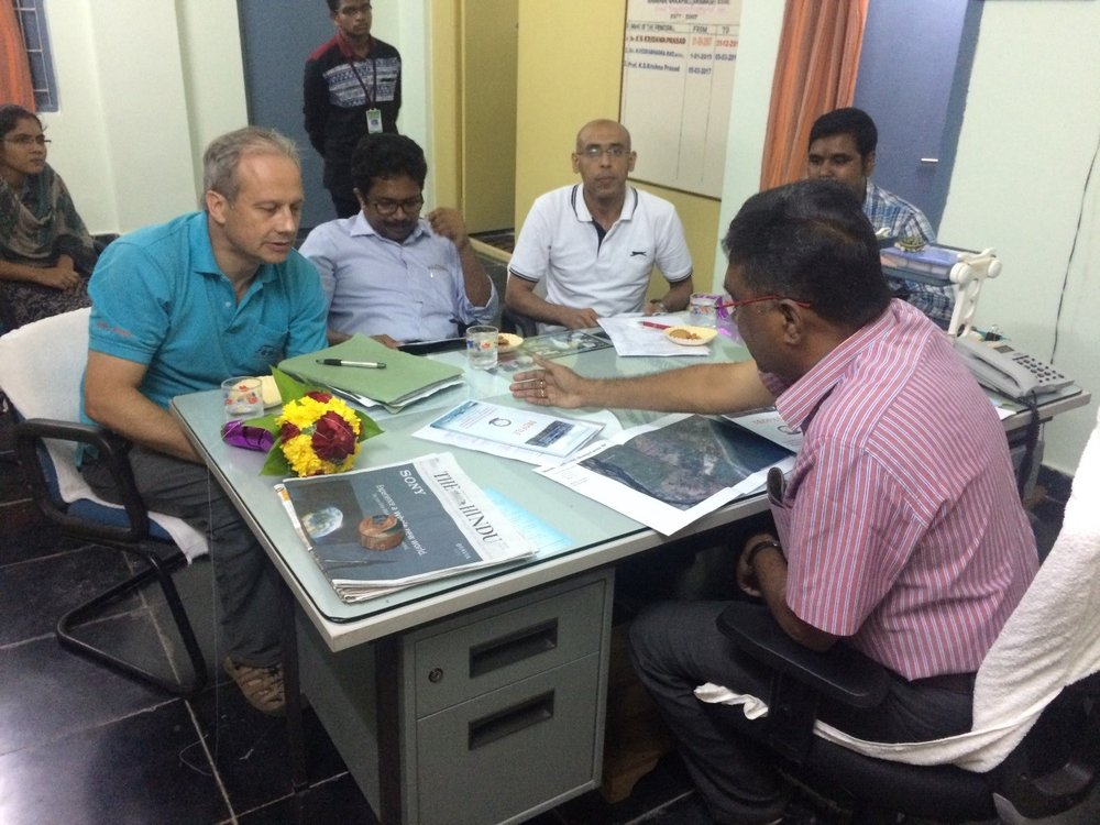 Dr Francis Murray, Dr Toms Josef, Dr Mahmoud Eltholth and Dr Hazrat Ali visited Fisheries Polytechnics College, Sri Venkateswara Veterinary University, and meet Principal Prof Krishna Prasad. Different aspects of IMAQulate project and potential areas of collaborations were discussed with Prof Krishna. Dr Francis Murray gave presentation about the project.