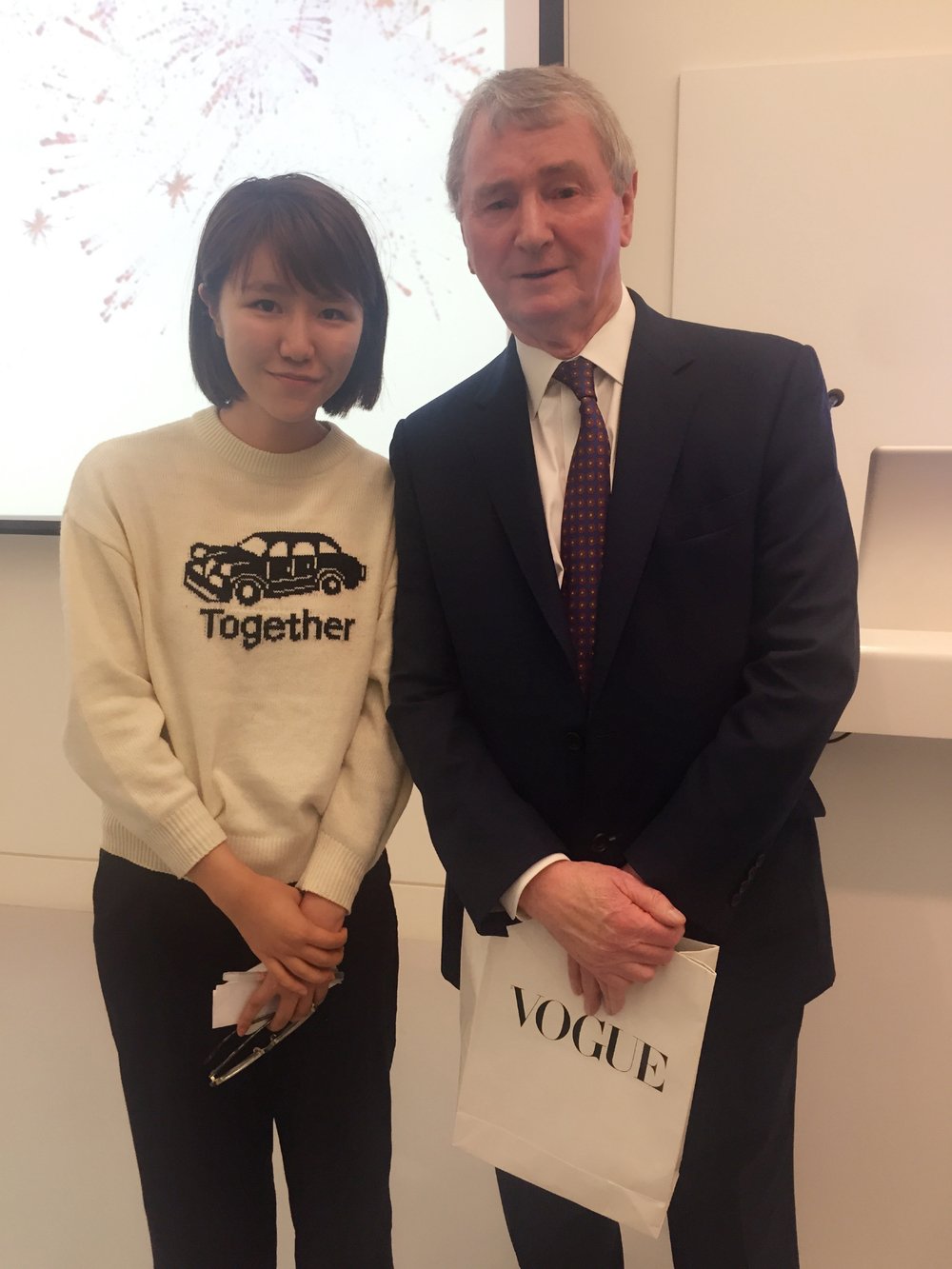 With Stephen Quinn - Publisher of Vogue