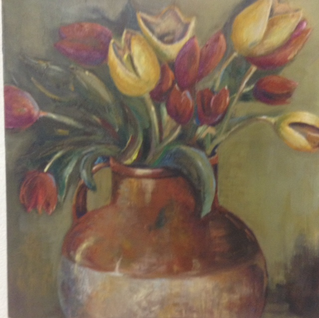 Flowers in vase (Sold)