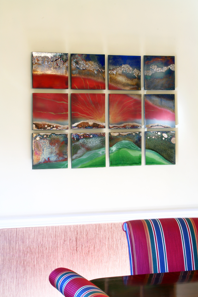 Commissioned Raku Wall