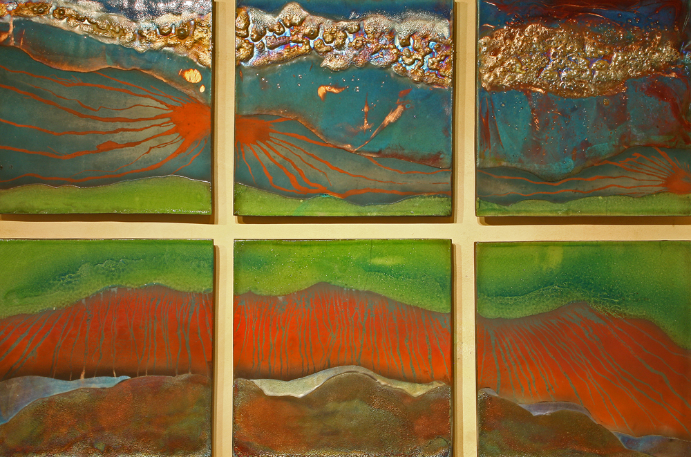 Raku Wall Piece by Steven Forbes de Soule