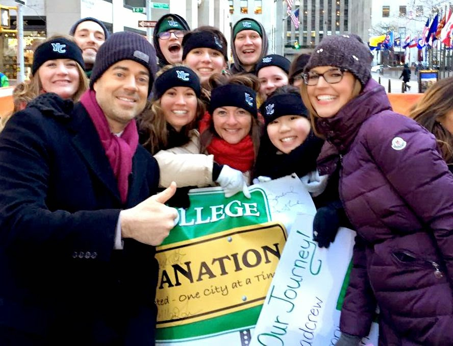 #SpartaNation 2015 The Today Show Savannah Gutherie Carson Daly