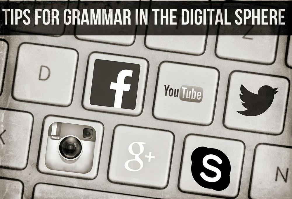 grammar tips digital sphere social media