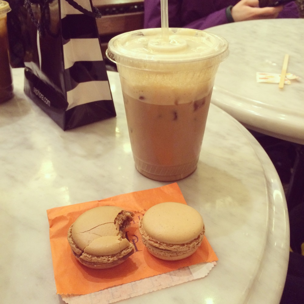 Cofee and Macarons at the Plaza