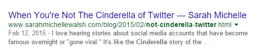 Cinderella of Twitter Blog Post Audit URL