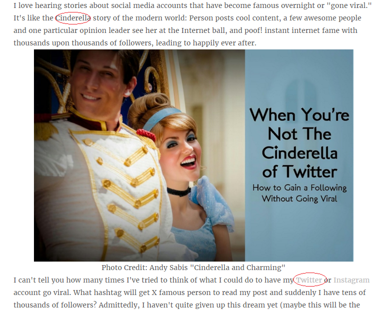 Cinderella of Twitter Blog Post Audit