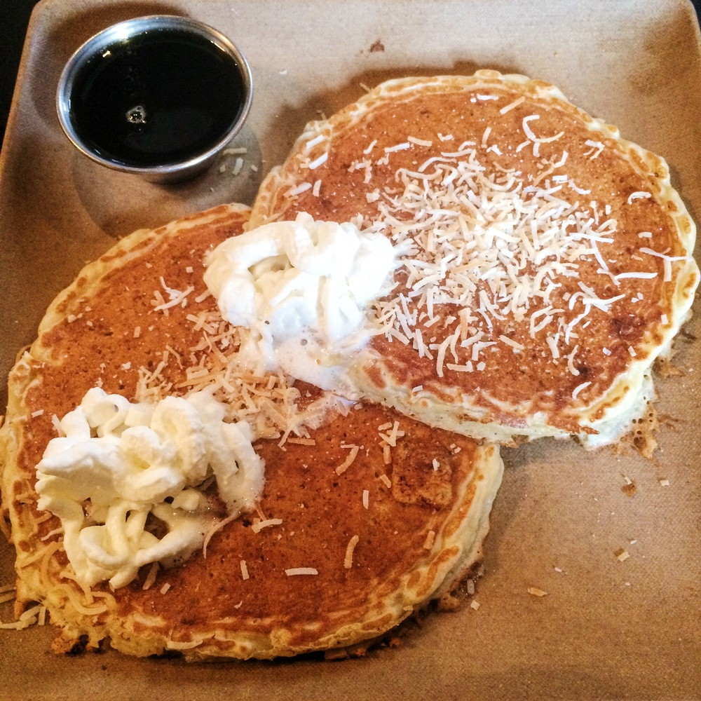 Coconut Quinoa Pancakes at The Tomato Pie Cafe