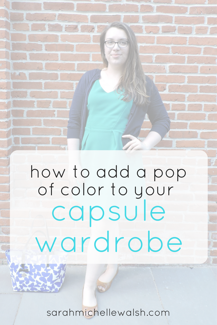 How to Add a Pop of Color to Your Capsule Wardrobe | Sarah Michelle Blog