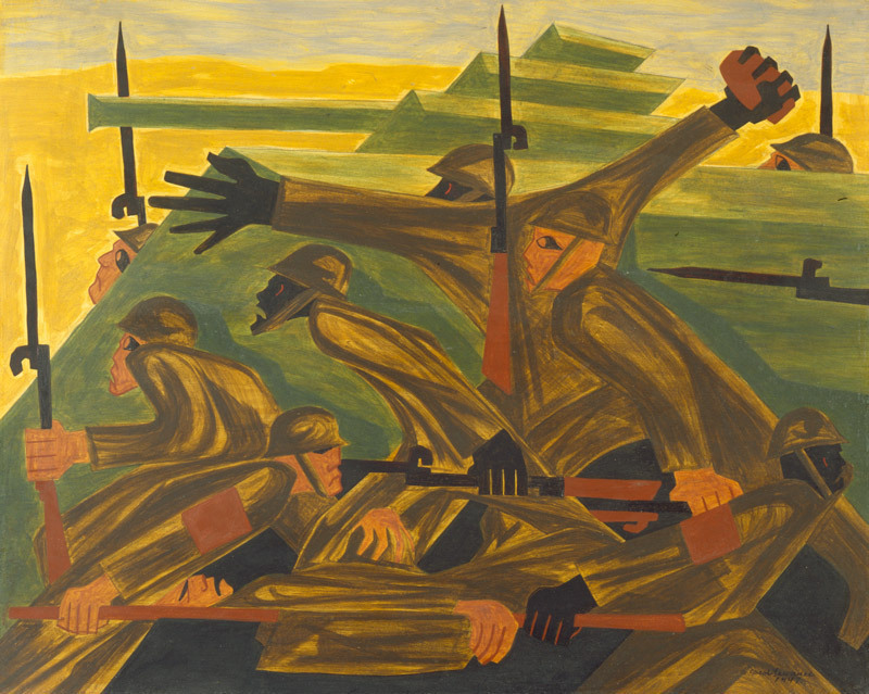 "Part of ""The War Series"" by Jacob Lawrence"