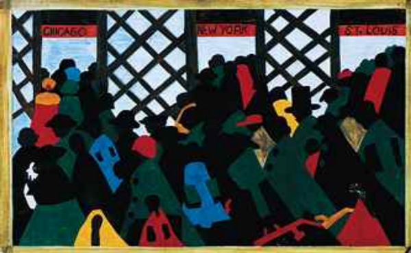 "Part of ""The Migration Series"" by Jacob Lawrence"
