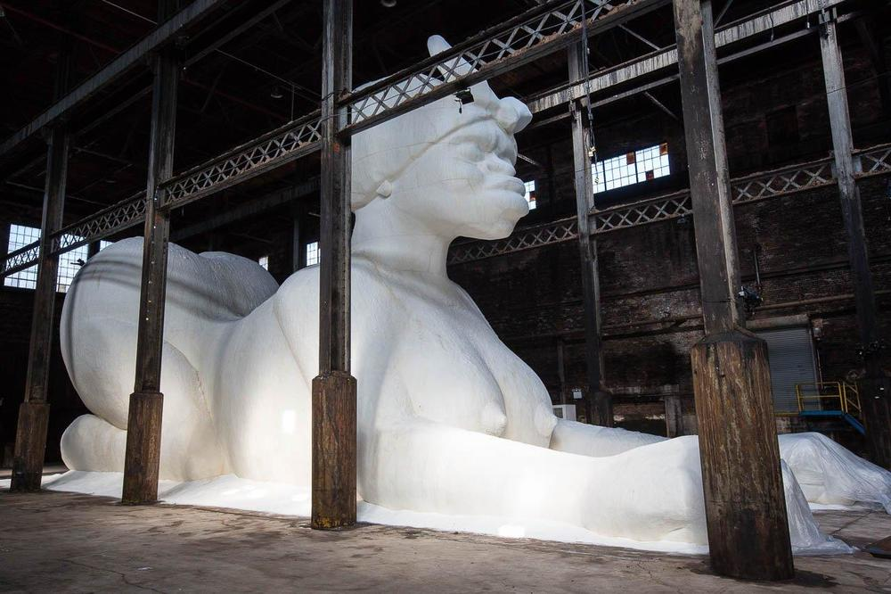 Kara Walker, A Subtlety, 2014, sugar coated sculpture, (Domino Sugar Factory Brooklyn, NY)