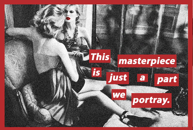 Barbara Kruger, Found Images & Text