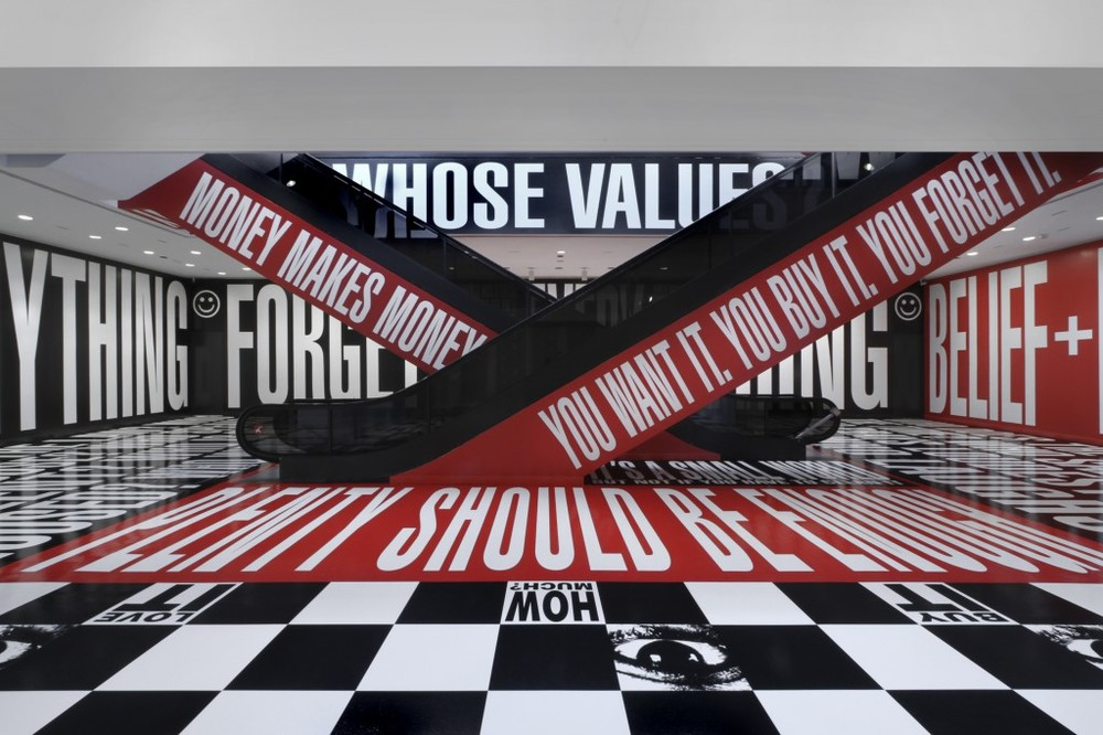Barbara Kruger, Belief & Doubt, 2012, (Hirshhorn Gallery, Washington D.C.)
