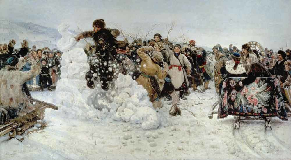 """The Taking of the Snow Town,"" V. Surikov,"