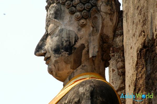 Sukhothai Period Stucco Buddha At Chaliang