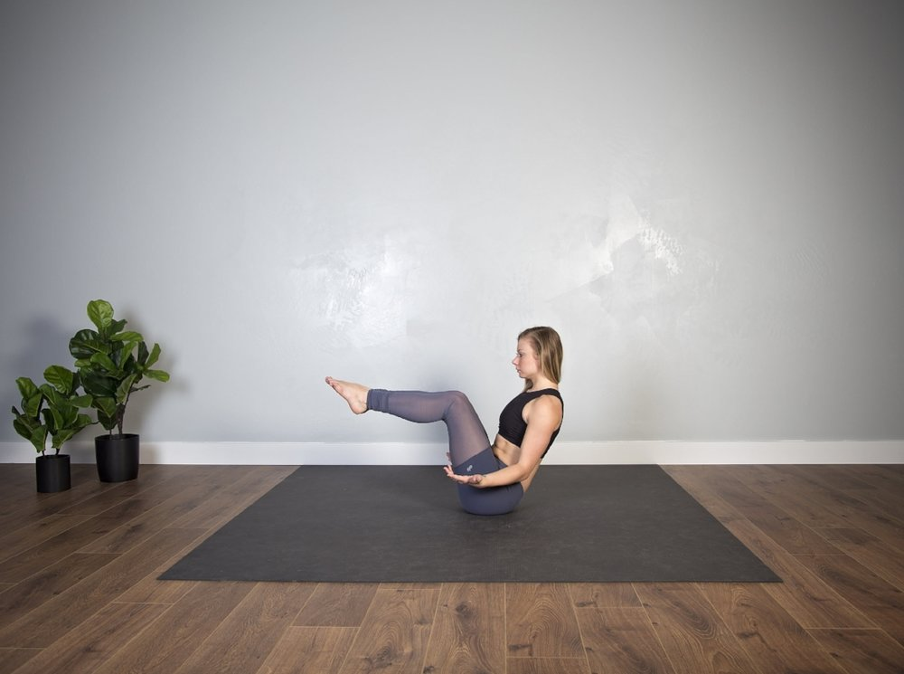 boat pose-knees bent
