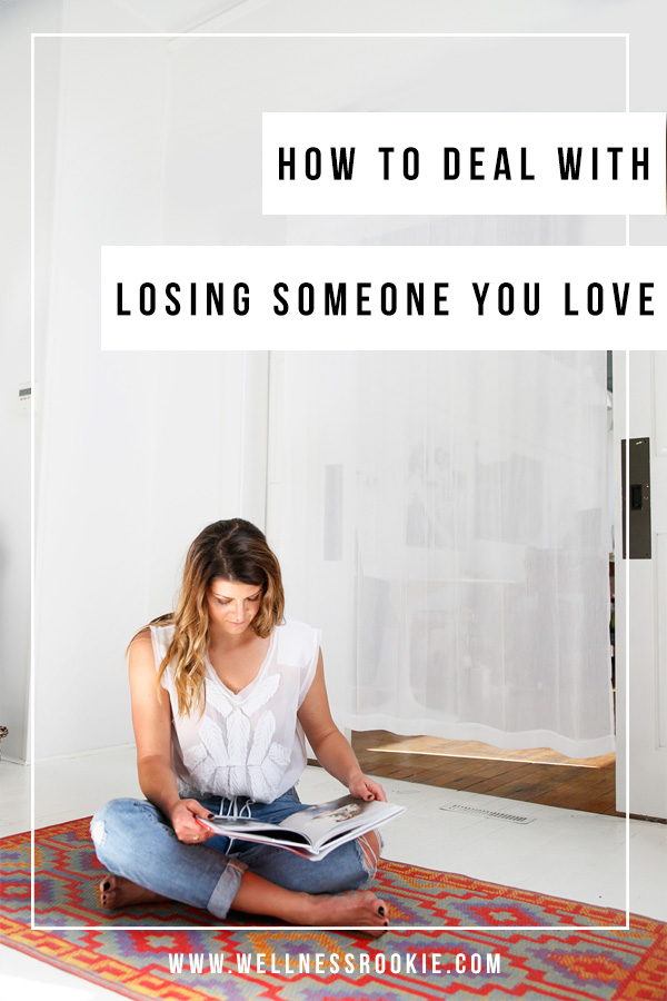how to cope with losing someone you love and dealing with grief, especially during the holiday season