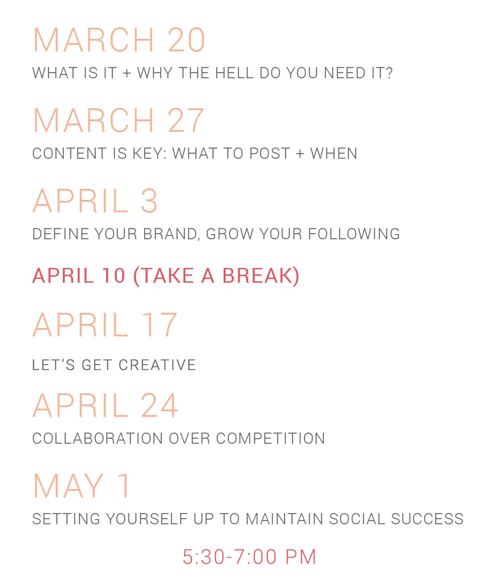 a social media workshop series in bozeman, montana teaching brands and businesses the key to social media marketing