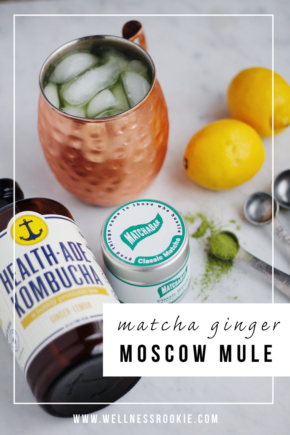 matcha ginger healthy moscow mule