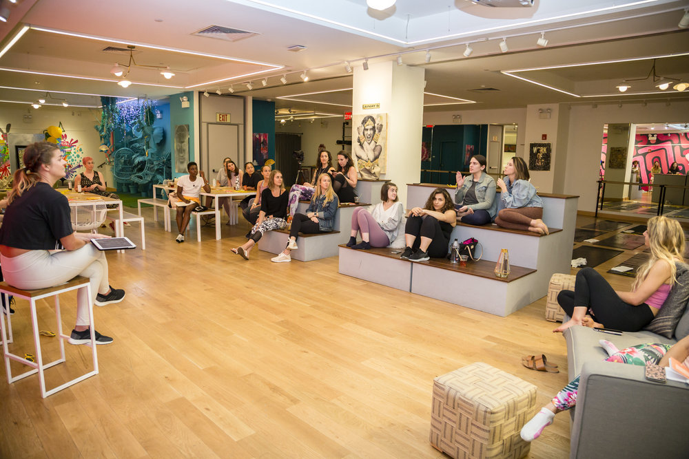 a sweatworking event dedicated to wellness, connection, and community