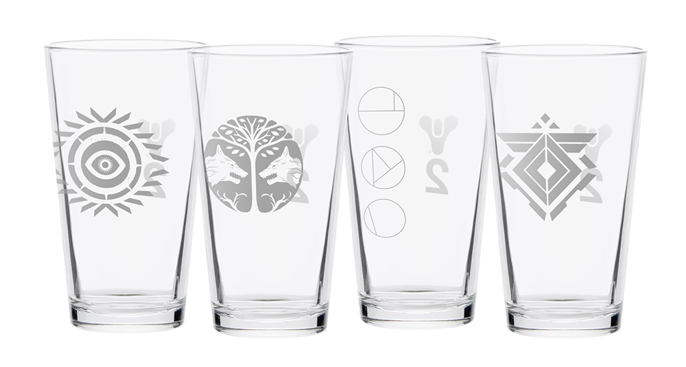 Destiny 2 Ritual Pint Glass Set   Concept based on in-game assets, created in Adobe Illustrator.