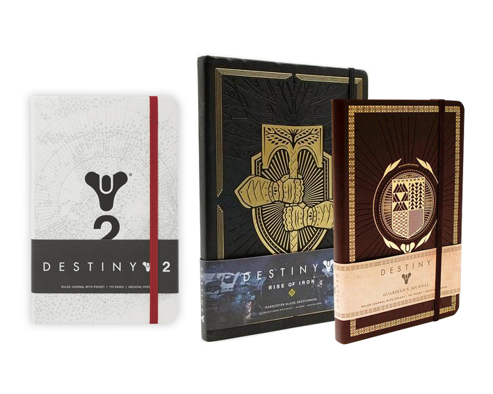 Destiny Hardcover Journals   Concept and creation in Adobe Illustrator, includes layouts for additional official artwork inside.
