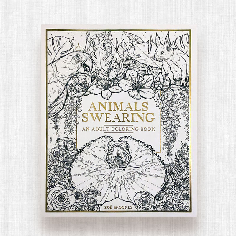 - Swearing Animals: An Adult Coloring Book — Design By Zoe