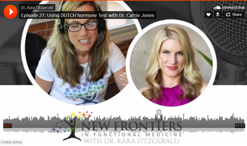Hormones and Hormone Testing - A fantastically fun podcast with the amazing Dr. Kara Fitzgerald with whom I have known since medical school! We discuss hormone testing, getting to the root cause, hormone metabolites and detoxification, COMT, the