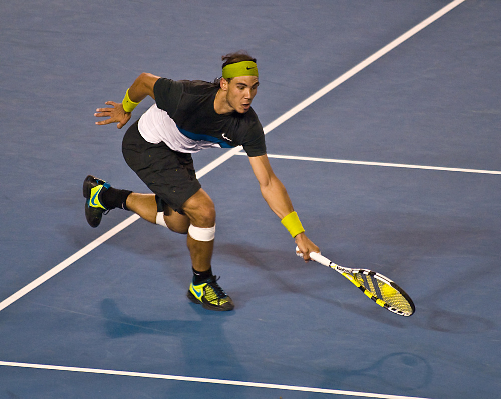 Nadal's huge left arm, courtesy of the SAID Principle
