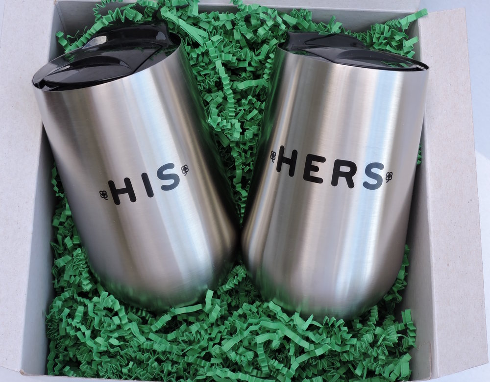 """HIS"" & ""HERS"" TUMBLERS"