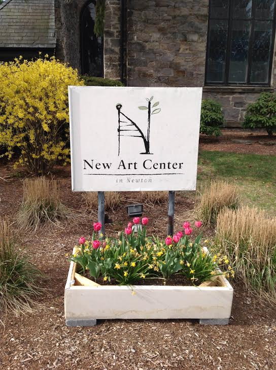 Garden  (at New Art Center) . 2014. Canvas, wood, paint, metal staples, soil, plants