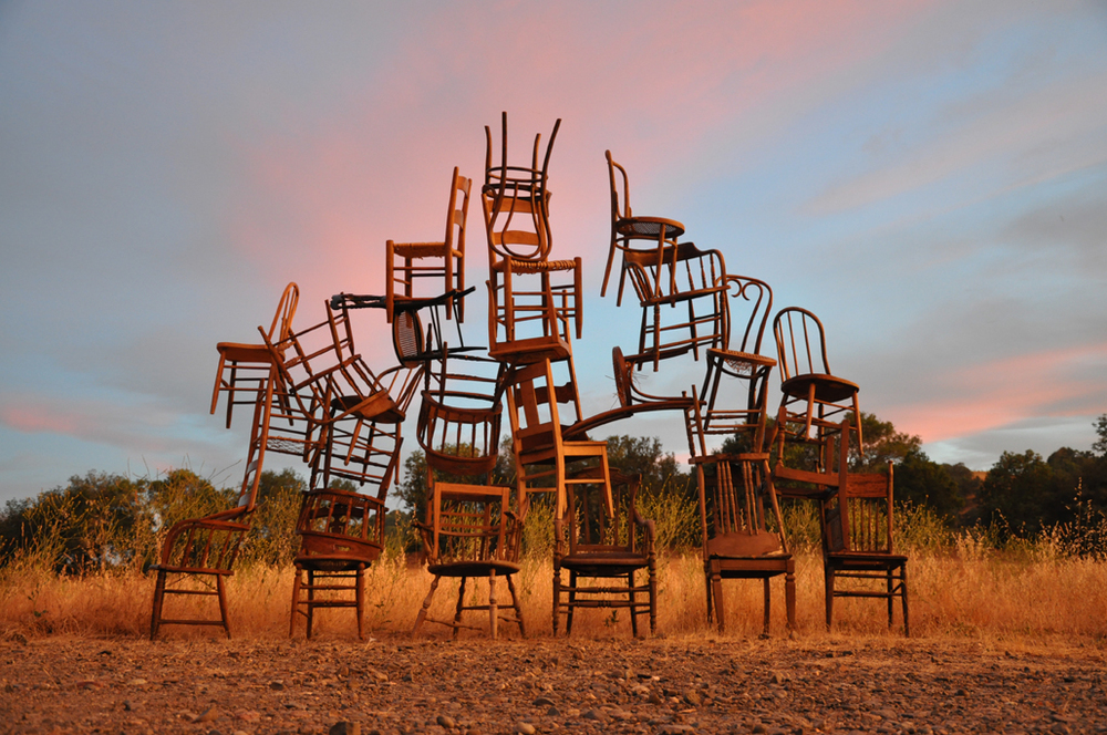 Family Tree,  2012  Found chairs  Chalkhill Residency, Healdsburg, CA
