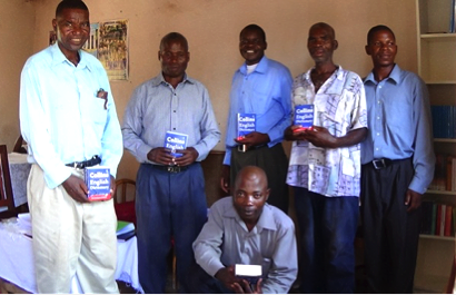 Photo: Pastors at Ngodzi Library centre with their dictionaries.