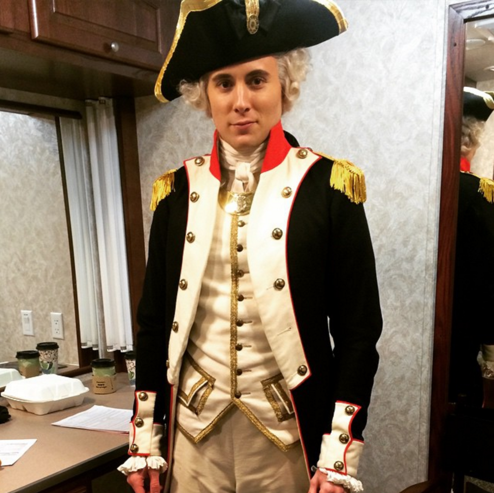 Brian as Lafayette on AMC's Turn