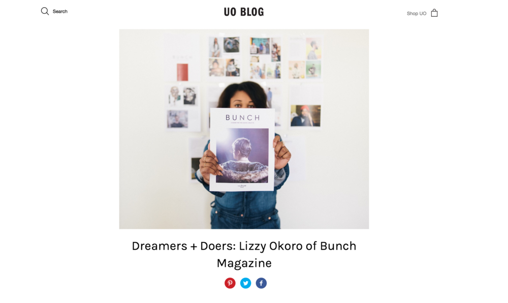 Lizzy says the Urban Outfitters and Squarespace Start-up contest win came at a critical time.