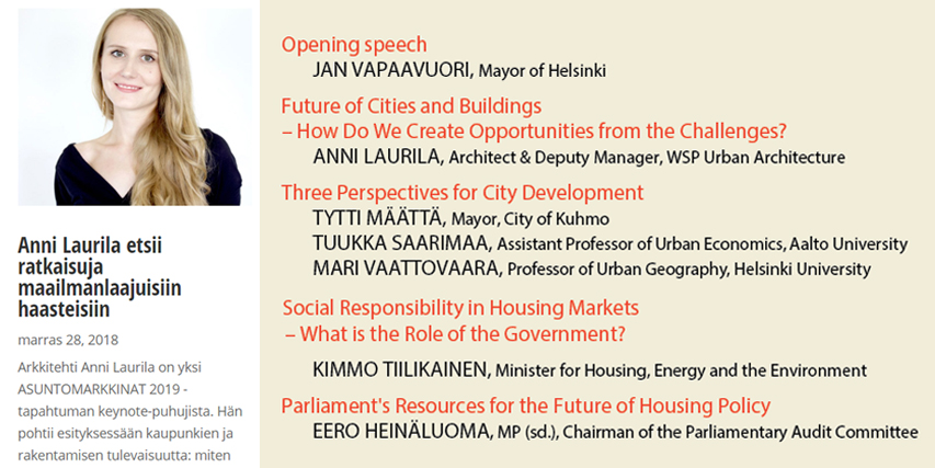 Keynote speech, Future of our Built Environment - Jan 2019Event for building industry leaders and city decision makers