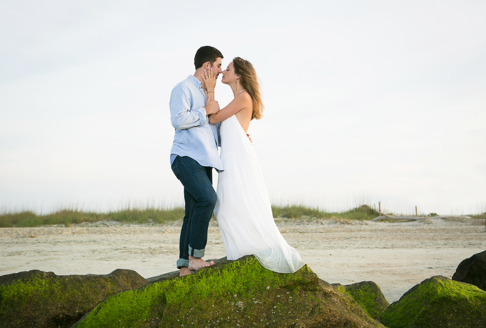 sunset-engagement-session-on-tybee-island